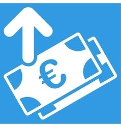 Spend euro banknotes icon vector