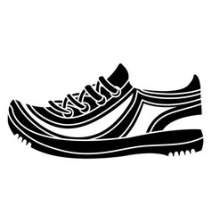 sport shoes tennis icon vector image
