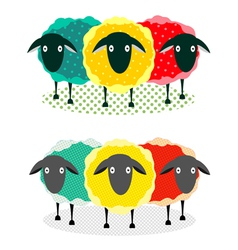 Three sheep vector