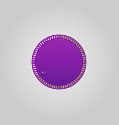 user interface control purple web element circle vector image vector image