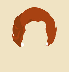 Womans hair symbol vector