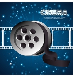 cartoon cinema film festival movie design vector image