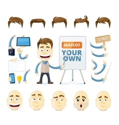 Businessman creation kit vector