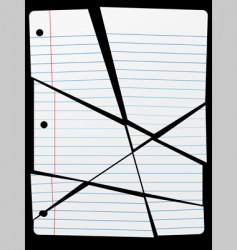 cut torn up ruled notebook vector image