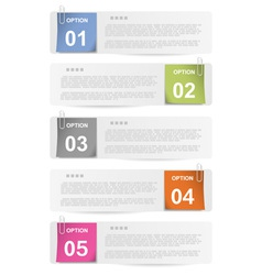 Make your choice - stapled paper notes vector