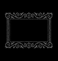 Ornamental gray frame vector