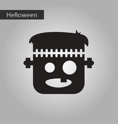 black and white style icon frankenstein vector image