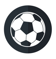 Football ball sport play shadow vector