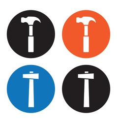 Hammer icons vector