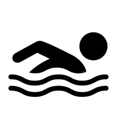 Summer swim water information flat people vector