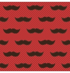 Background with mustaches vector