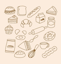 Bakery objects vector