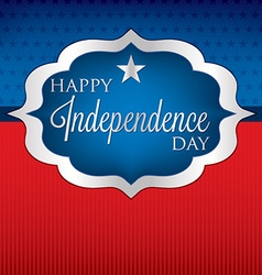 Shape independence day card in format vector