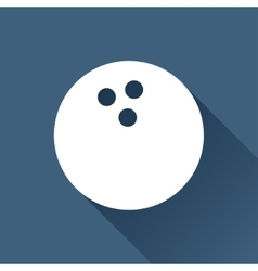 Bowling ball icon vector