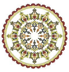 Antique ottoman turkish pattern design twenty vector
