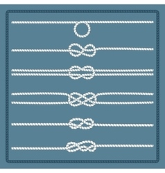Marine rope knot vector