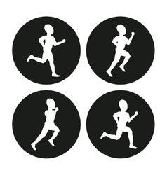 Running design fitness concept white background vector