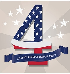 4th july independence day design elements vector