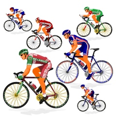 National cyclist 6 vector