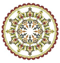 Antique ottoman turkish pattern design twenty vector