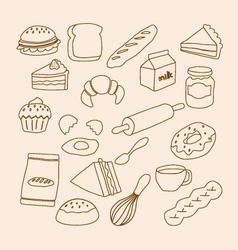 Bakery objects vector