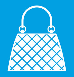 Beautiful bag icon white vector