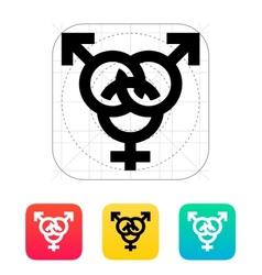 Bisexual icon vector image