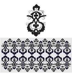 Black oriental ottoman design thirty one vector