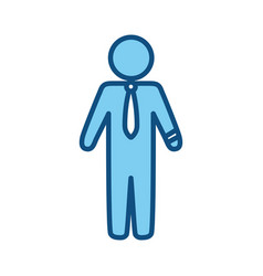 businessman draw silhouette vector image