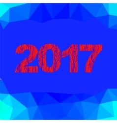 Christmas banner 2017 new year poster vector