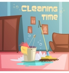 Cleaning service vector