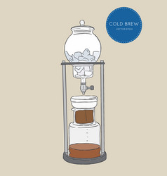 cold brew coffee makers for coffee shop brewing vector image