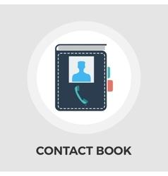 Contact book flat icon vector