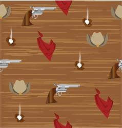 cowboy pattern vector image vector image