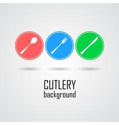 Cutlery symbols vector image vector image