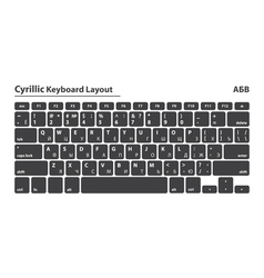 Cyrillic alphabet keyboard layout set - Isolated vector image vector image