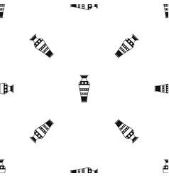 Egyptian vase pattern seamless black vector