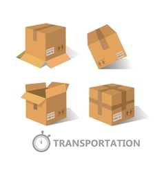 Flat boxes icons set EPS10 vector image vector image