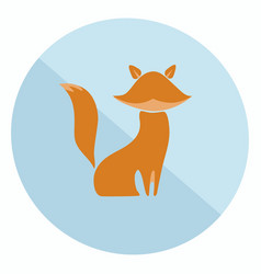 flat fox icon vector image