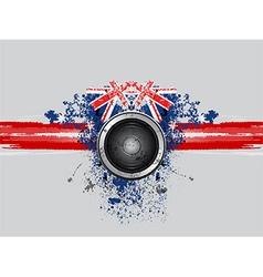 Grunge music speaker vector