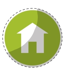 house pictogram button icon image vector image vector image