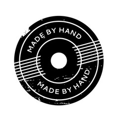 Made by hand rubber stamp vector