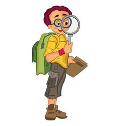 male explorer vector image
