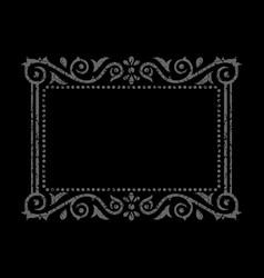 Ornamental gray frame vector