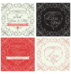Ornate Holiday cards vector image