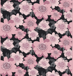 pale pink color stylized floral seamless pattern vector image