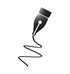 pen tip silhouette vector image vector image