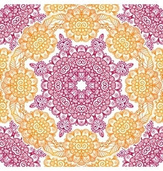 Pink and orange floral seamless pattern tile vector
