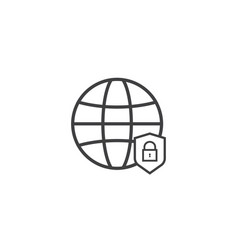 Privacy data protection and internet vpn shield vector