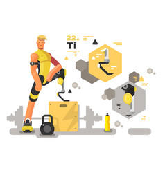 prostheses for sport and fitness vector image vector image